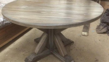 Ash Round Trestle Table