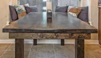 Knotty Alder Traditional Farmhouse Table