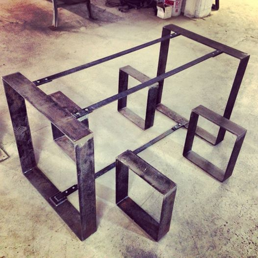 Captivating Flat Metal Table And Bench Frames