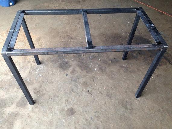 Rustic Table Legs | Square Metal Industrial Frames | Custom