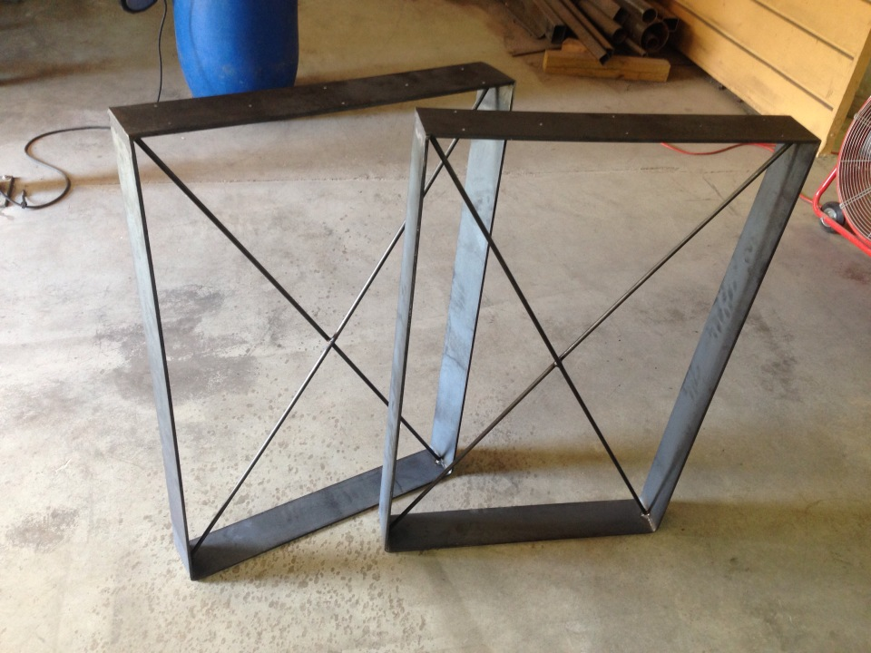 Rustic Table Legs | Square Metal Industrial Frames | Custom