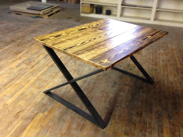 Rustic table legs square metal industrial frames custom metal crossed table legs watchthetrailerfo