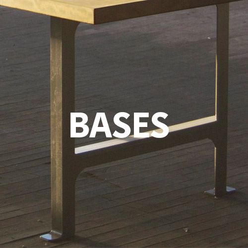 Bases showing how custom a wood desk from KS WoodCraft can be.