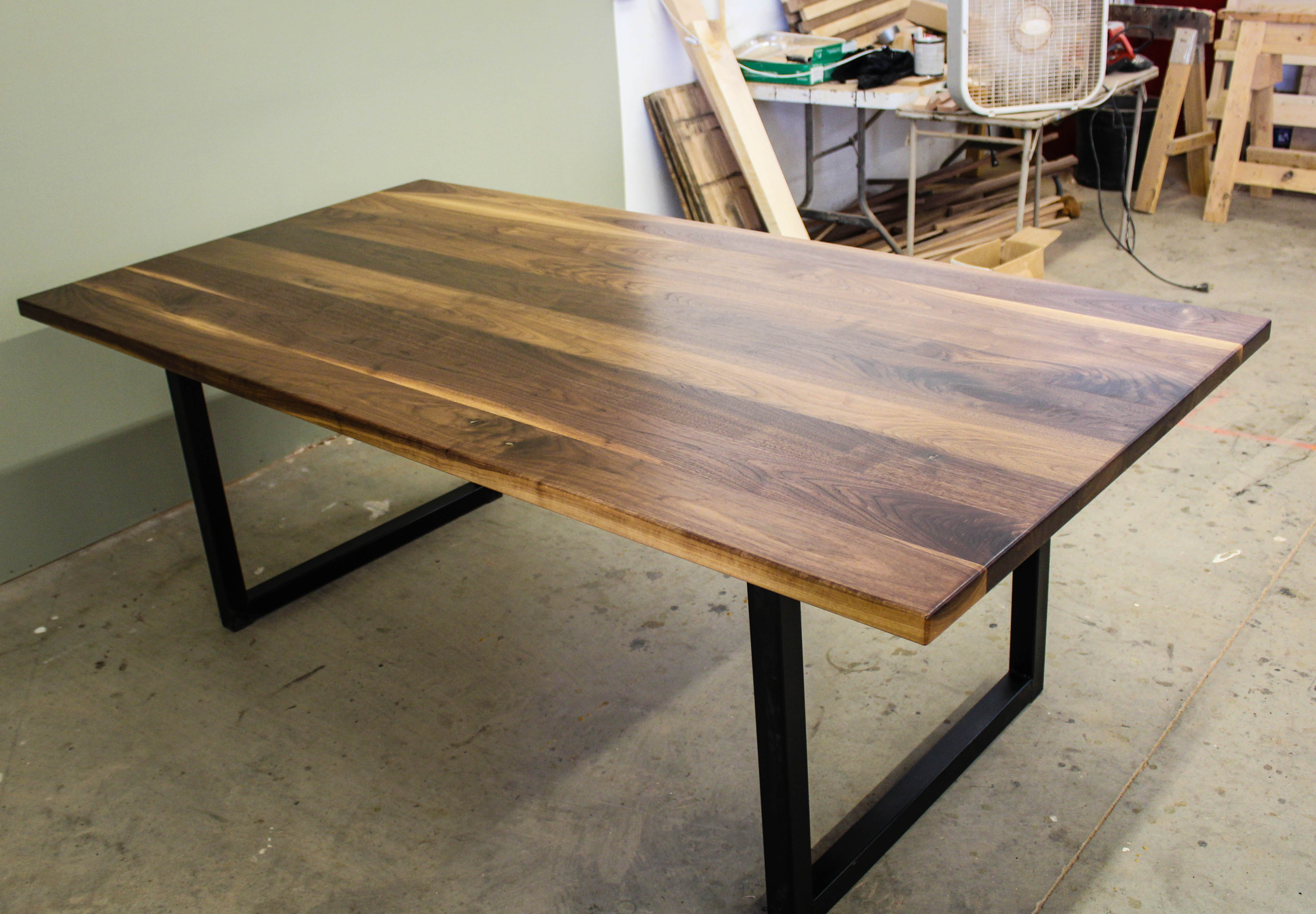 Black Walnut Modern Industrial Table Ks Woodcraft