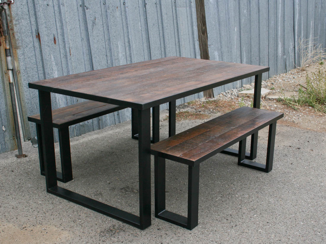 & dining-table-benches-set-66421 | KS WoodCraft