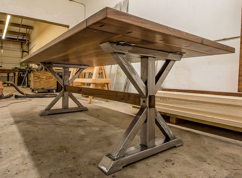 Traditional Trestle Metal Base Bw 6 Ks Woodcraft
